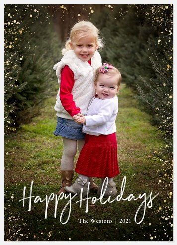 Sparkle Dots Holiday Photo Cards