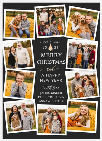 Wishing Collage Holiday Photo Cards