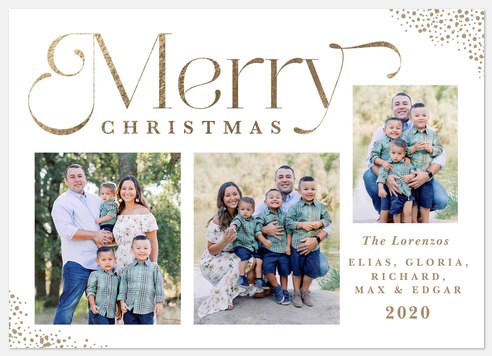 Golden Glow Holiday Photo Cards