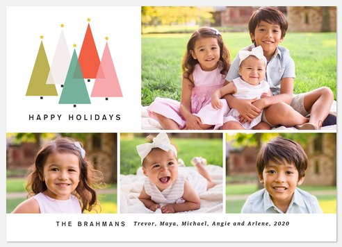 Mod Trees Holiday Photo Cards