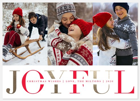 Joyful Grandeur Holiday Photo Cards