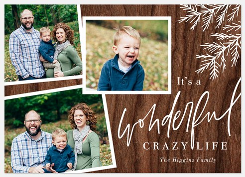 Woodland Wonder Holiday Photo Cards