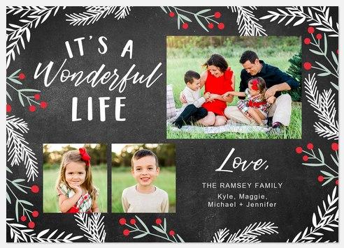Yuletide Chalkboard Holiday Photo Cards