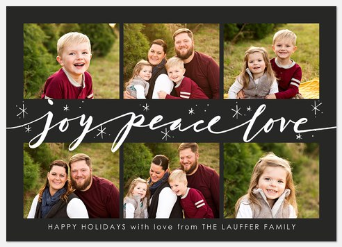 Starllight Script Holiday Photo Cards