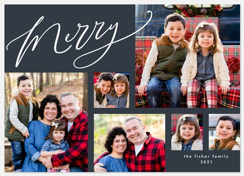 Multi Merry Holiday Photo Cards