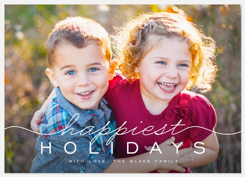 Refined Merriment Holiday Photo Cards