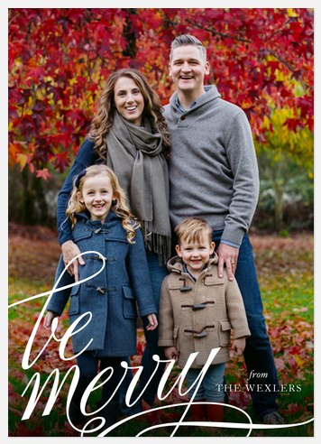 Merry Calligraphy Holiday Photo Cards