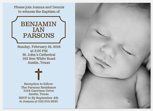 Gods Gift Baptism Invitations