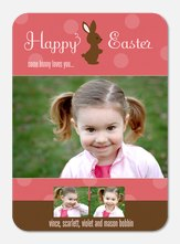 Easter Photo Cards - Cocoa Bunny