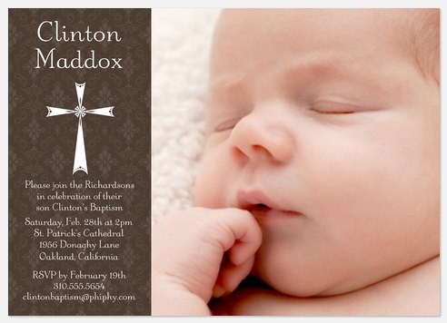 Blessed Day Baptism Invitations