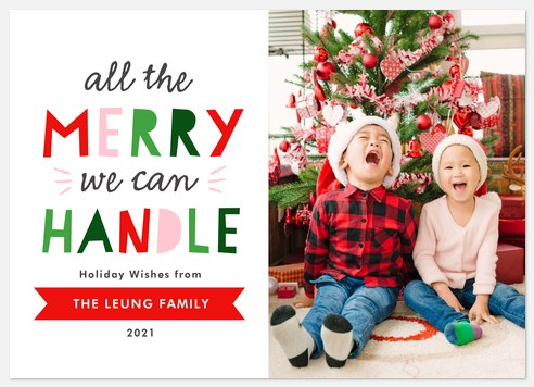 All The Merry Holiday Photo Cards