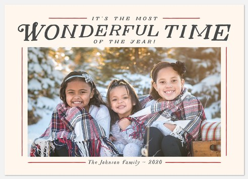 Wonderful Frame Holiday Photo Cards