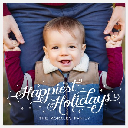 Snowy Tidings  Holiday Photo Cards