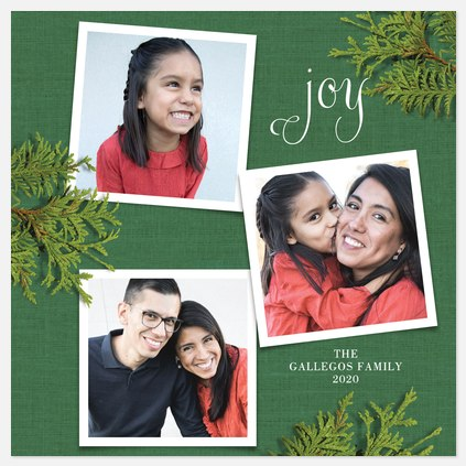 Evergreen Memories Holiday Photo Cards