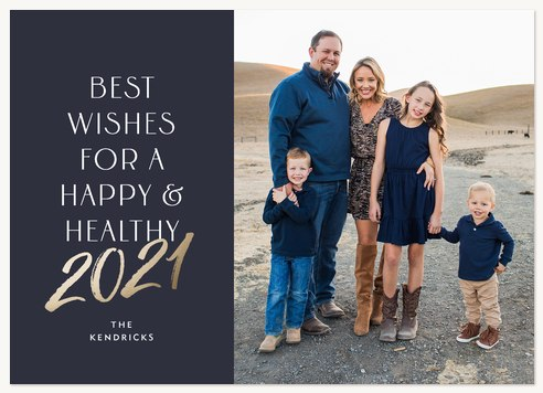 Happy & Healthy Personalized Holiday Cards