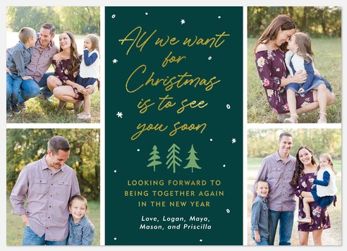 See you Soon Holiday Photo Cards