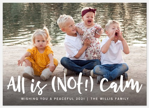 Not Calm Holiday Photo Cards