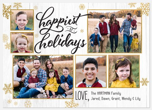 Farmhouse Shimmer Holiday Photo Cards