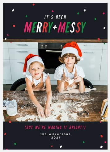 Merry and Messy Holiday Photo Cards