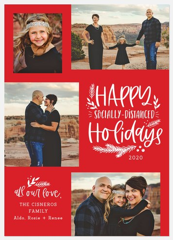 Distanced Holidays Holiday Photo Cards