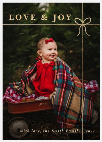 Golden Thread Holiday Photo Cards