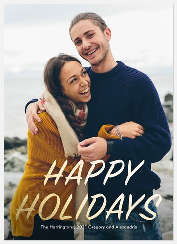 Golden Distance Holiday Photo Cards