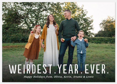 Weirdest Year Holiday Photo Cards