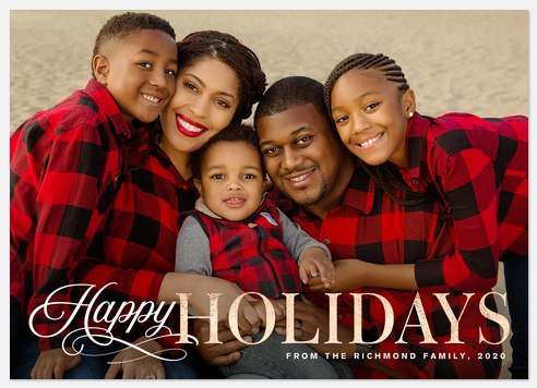 Grand Greeting Holiday Photo Cards