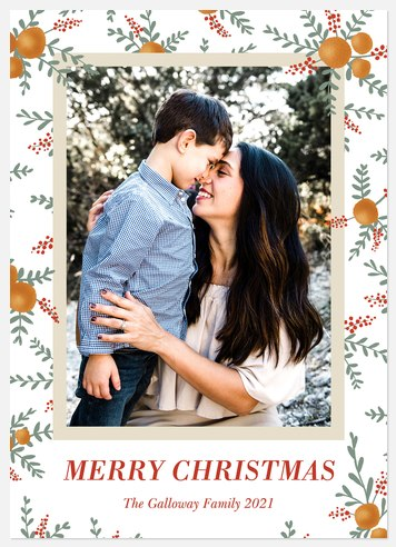 Citrus Frame Holiday Photo Cards