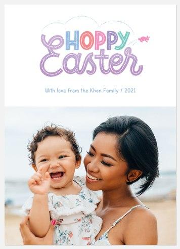 Hoppy Easter Easter Photo Cards