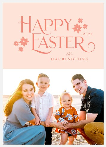 Spring Florals Easter Photo Cards