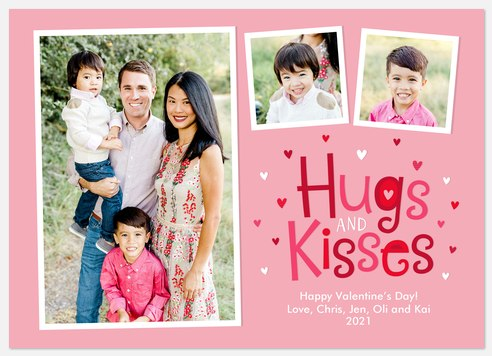 All the Hugs Valentine Photo Cards