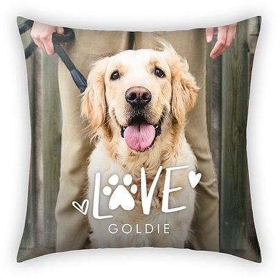 Paw Print Custom Pillows