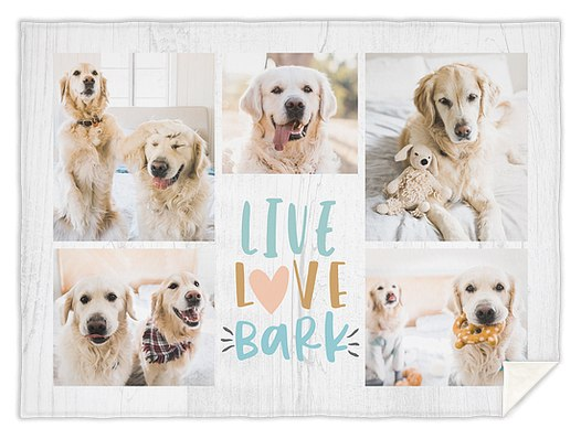 Live, Love, Bark Custom Blankets