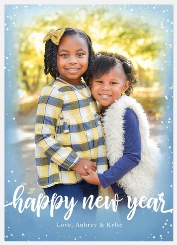 Winter Confetti Holiday Photo Cards