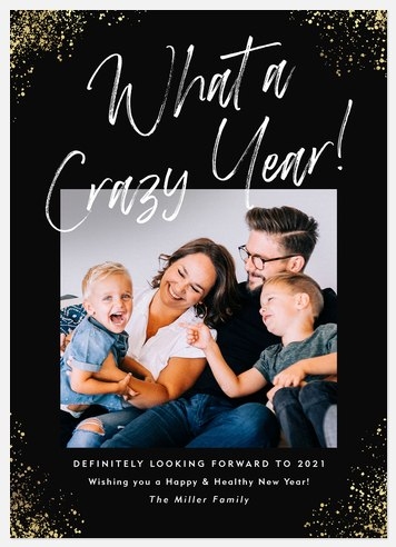 What A Crazy Year Holiday Photo Cards