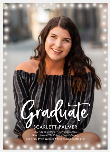 Glowing Grad Graduation Cards