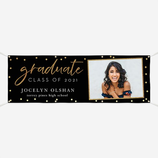 Golden Grad Graduation Banners