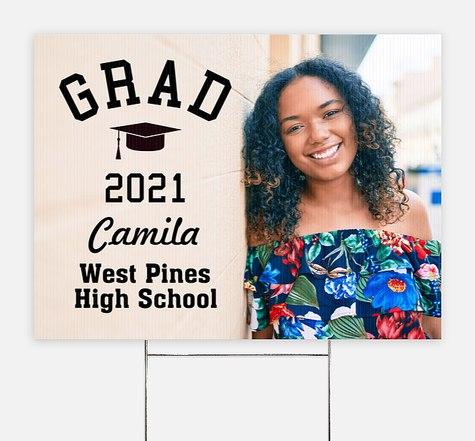 Classic Grad Overlay Graduation Yard Signs