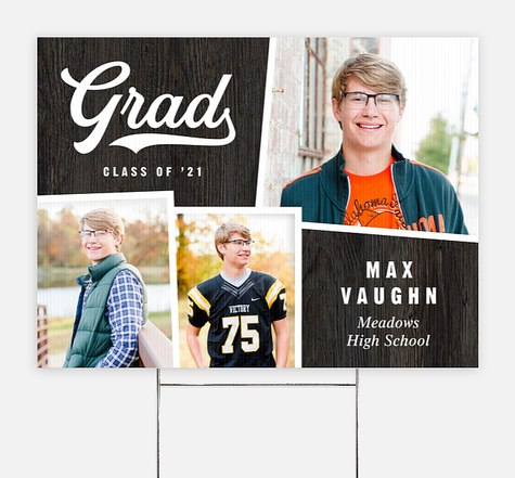 Sporty Snapshots Graduation Yard Signs