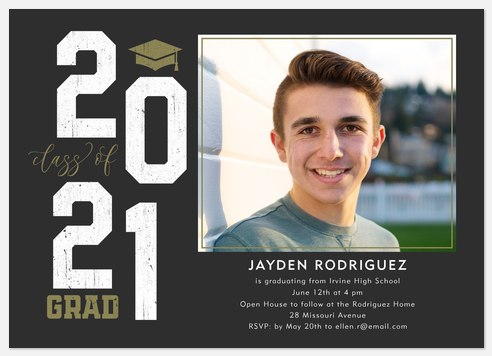Bold Year Graduation Cards
