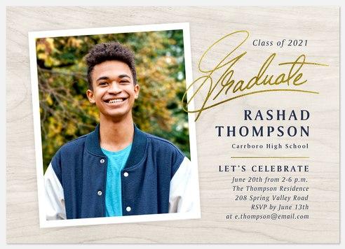 Rustic Birchwood Graduation Cards