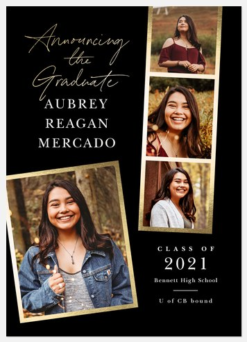 Elegant Snapshots Graduation Cards