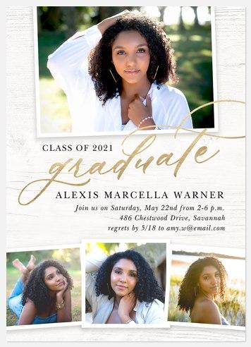 Rustic Elegance Graduation Cards