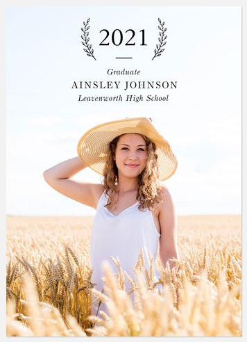 Simple Laurel Graduation Cards