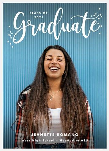 Confetti Flair Graduation Cards