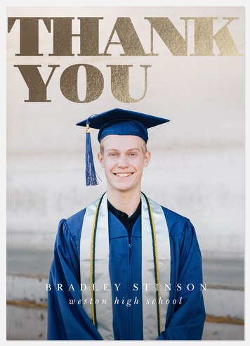 Gleaming Grad Thank You Cards