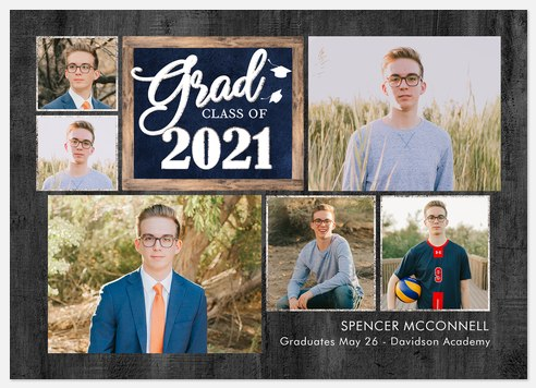 Charming Collage Graduation Cards