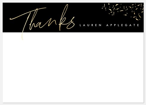 Shimmering Script Thank You Cards