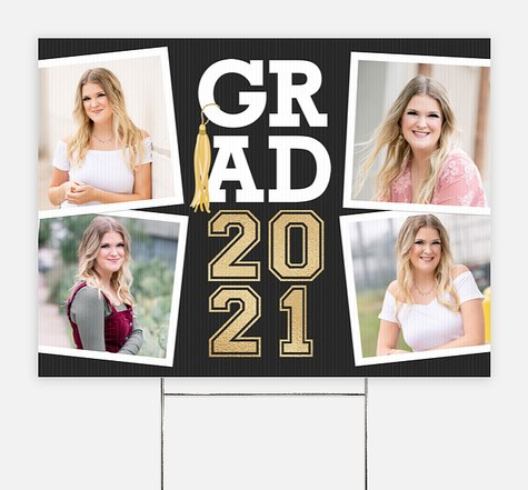 Grad Tassel Collage Graduation Yard Signs